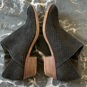 Lucky Brand Black Perforated Baylah Bootie 8.5